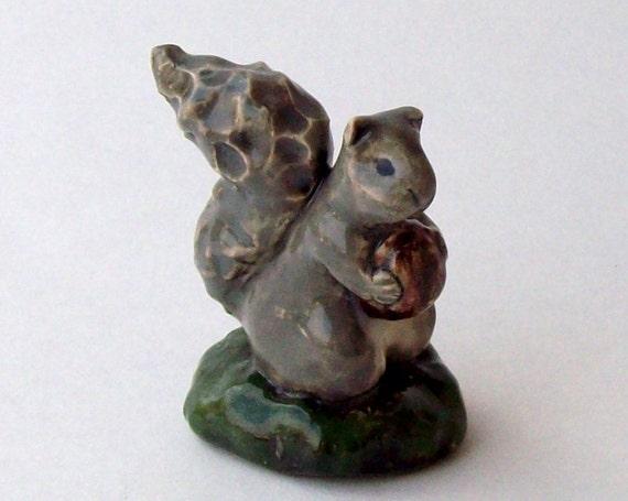 Squirrel Handmade Ceramic Figurine