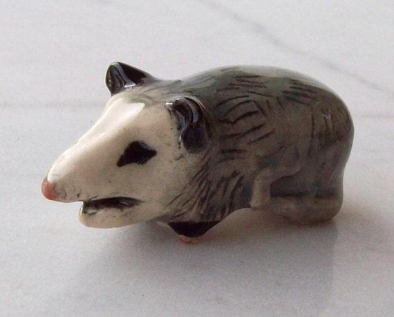 Possum Miniature Handmade Ceramic Figurine