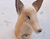 Small Fox Textile taxidermy head.Victor.