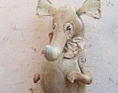 Large Seahorse boy. Textile art.