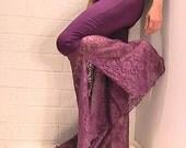 Tribal &  Flamenco Flare Pants Purple lace - SMALL