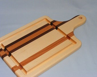 Paddle Cutting Board with Groove. Free Shipping