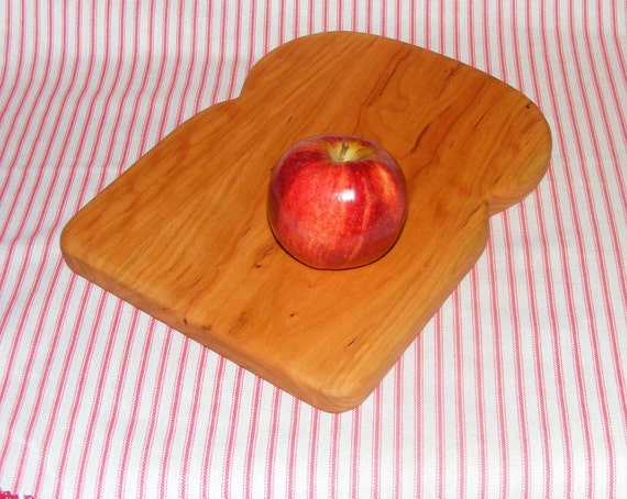 Bread Shaped Cutting Board. Cherry.  Trivet.  Free Shipping