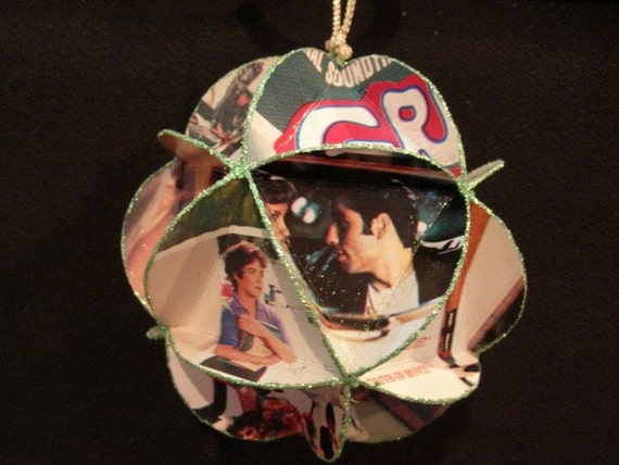 Grease Movie Album Cover Ornament Made Of Record Jackets
