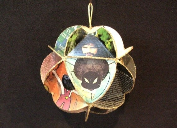 Cat Stevens Album Cover Ornament Made Of Recycled Record Jackets