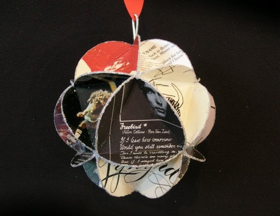 Lynyrd Skynyrd Album Cover Ornament Made Of Record Jackets - Southern Rock Music