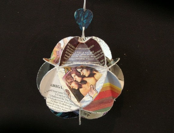 ELP Emerson Lake & Palmer Album Cover Ornament Made Of Record Jackets - Music, Recycled