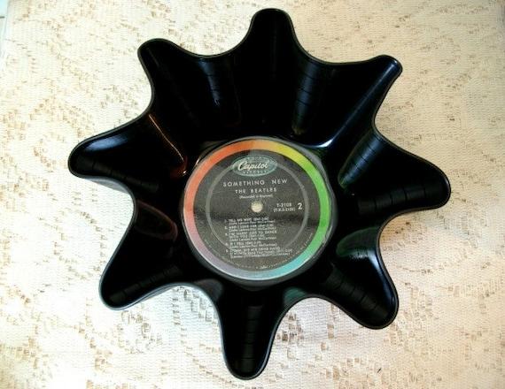 Beatles Record Bowl: John Lennon Paul McCartney Recycled Vinyl