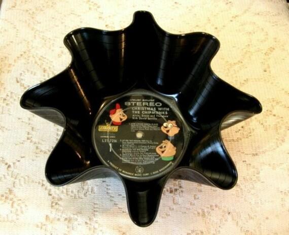 Alvin & The Chipmunks Record Bowl: Music, Recycled Vinyl Album, Cartoons