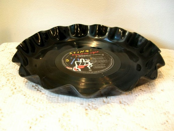 Sting Record Album Serving Platter with Wavy Edge - The Police Band