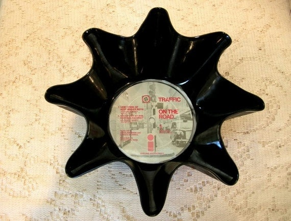Traffic Steve Winwood Record Bowl Made From Recycled Vinyl Album