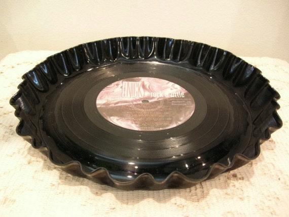 Stevie Nicks Record Bowl Serving Platter - Fleetwood Mac - Recycled Vinyl Album