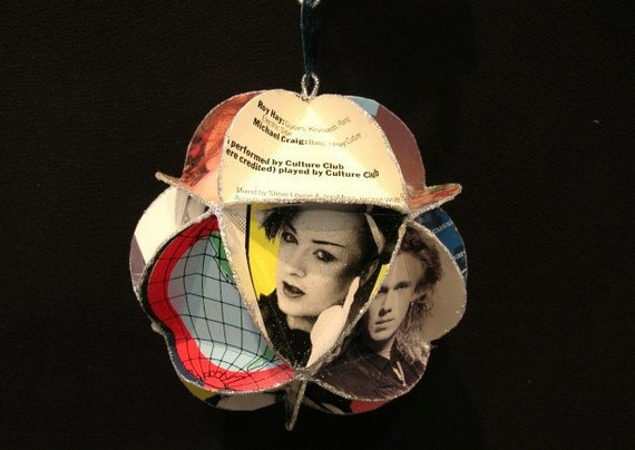 Culture Club Album Cover Ornament Made Of Record Jackets: Boy George
