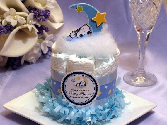 BABY SNOOPY mini diaper cake centerpiece baby by shadow090109