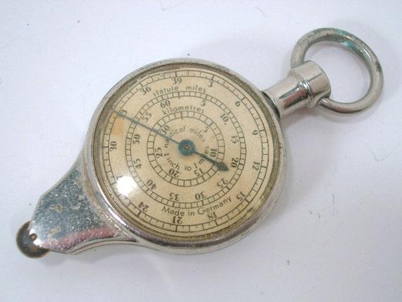 Vintage Working Map Measurer Opisometer Industrial Tool