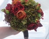 Fall Hydrangea and Ranunculus Bouquet
