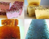 SALE SOAP - 4 assorted 3LB Handmade Glycerin Soap Loaves, Wholesale Soap Loaves, Vegan Soap