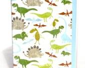 Dinosaur travel wallet, kid's passport wallet, boy's passport cover, document holder, travel accessory, blue and green dinosaur id case