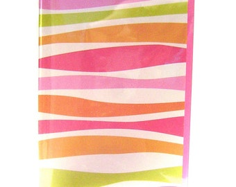 Stripes passport wallet, tropical travel wallet, women's travel wallet, id document holder, travel accessory, multicolored passport cover