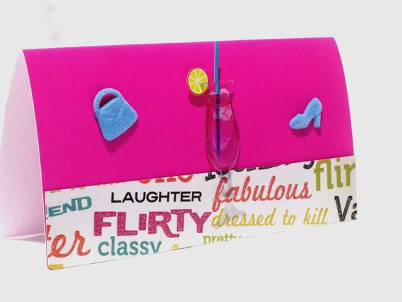 Checkbook cover girls night out purse shoe cocktail vinyl