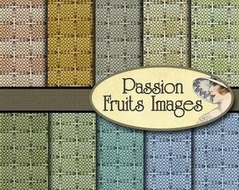 Basketweave Pattern Antique Wallpaper Basketweave patterns Digital Paper Pack- 10 pc-- Instant Download