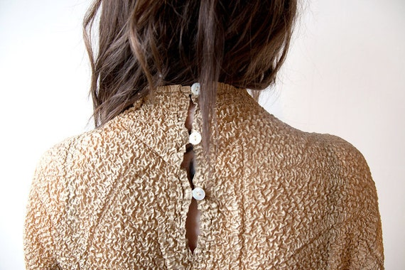 gold crepe top