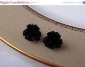 40% OFF Black Rose Studs - Buy 3 Get 1 Free