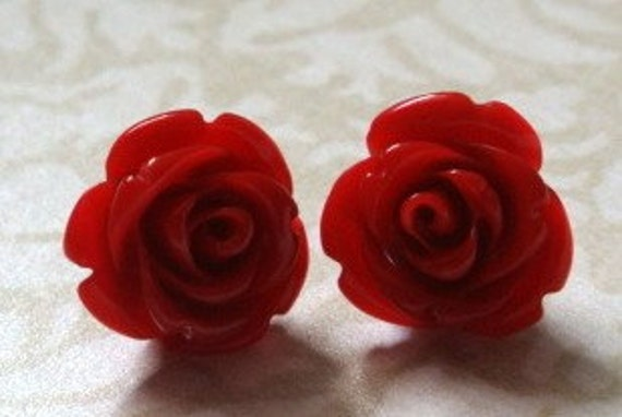 Madelyn Earrings in Red Licorice - BUY 3 GET 1 FREE