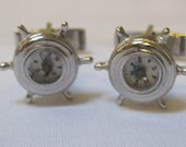 vintage signed Judy Lee compass cuff links