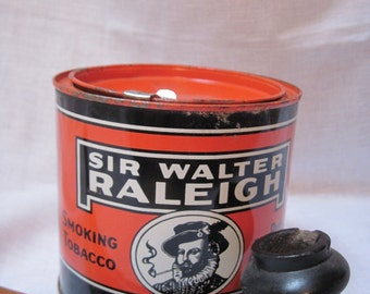 Vintage Sir Walter Raleigh tobacco tin  ON SALE