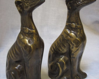 Vintage pair of art deco dogs 1930's