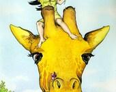 Giant Giraffe - 8 x 10 Print