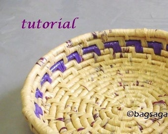 Tutorial - recycled plastic bag coil basket