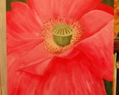 Pink Poppy painting courtesy listing for my dad