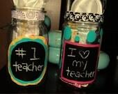 Chalkboard Mason jar (customizable)