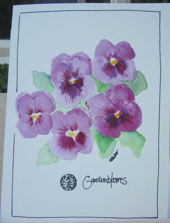 CHEERFUL PANSY Watercolor Card