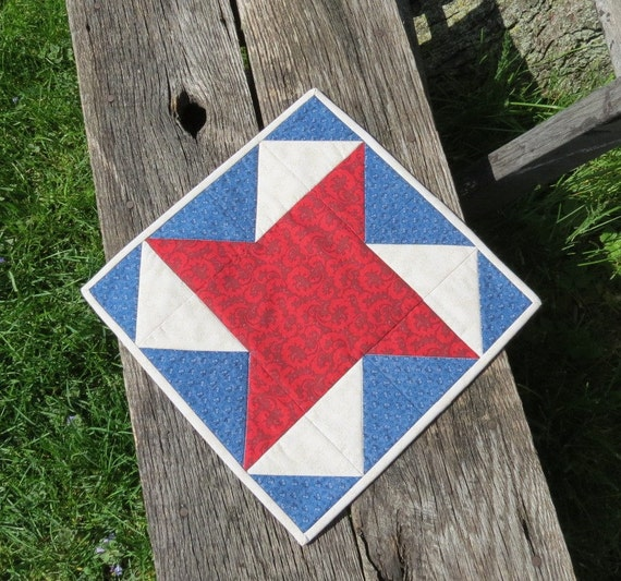 Patriotic Star Quilted Table Topper - Team USA