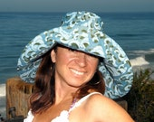 Oceanic Wide Brim Sun Hat by Freckles California