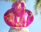 Moonlight Sunsets Wide Brim Sun Beach Hat Summer Fashion by Freckles California