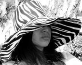 Zebra Sun Hat Summer Fashion Wide Brim Sun Hat Unique Hair Accessory for Large Heads sun hat Freckles California
