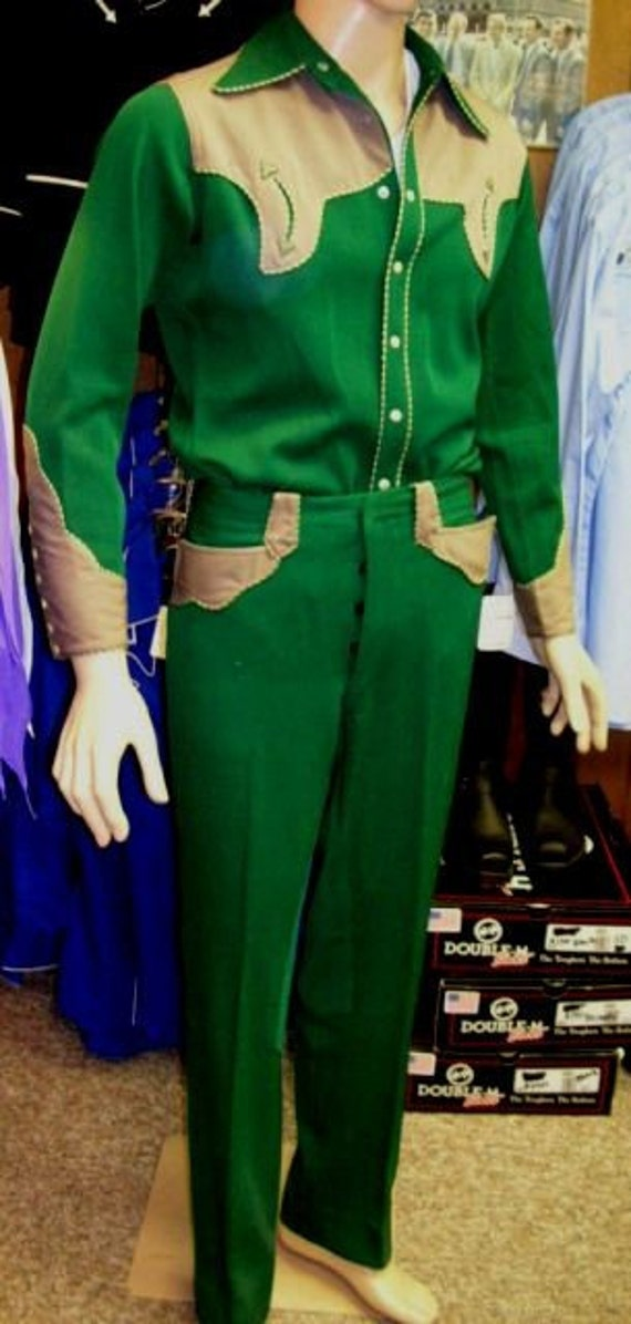 Rodeo Ben 1940's man's western suit small