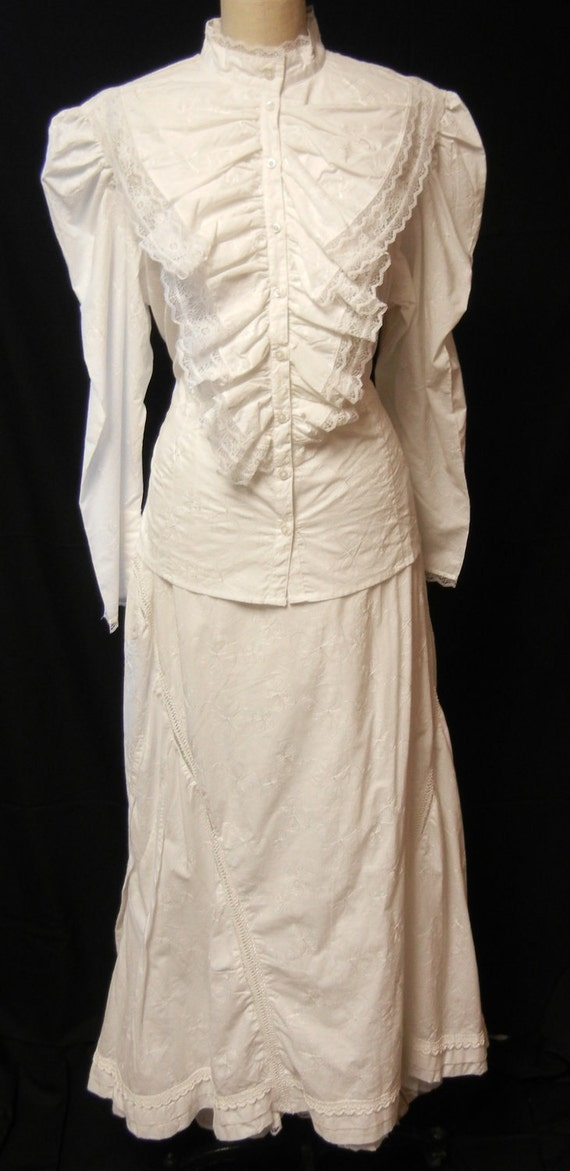 old west wedding dress large by katykdesigns on etsy