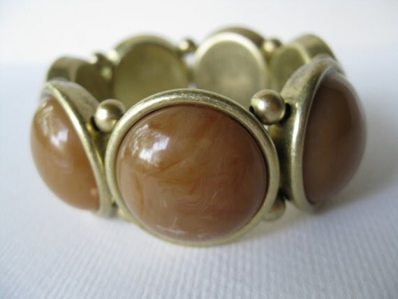 Vintage Statement Plastic Bracelet