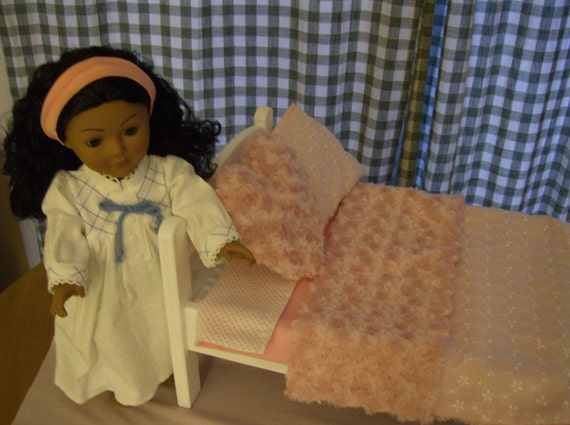 American Girl Doll Bedding Set, REVERSIBLE, pink, 4 pieces