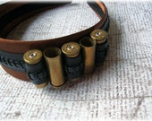 Gold Bullet Black Leather Brown Steampunk Headband