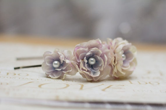 Morning Dove White Flower Headband with Pearl Center