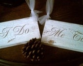 RUSTIC Wedding Sign  Bride & Groom Chair Hangers Wedding Photo Props WOODLAND, AUTUMN Wedding, Fall Wedding, Country Wedding Barn Wedding - RomanticPlanet