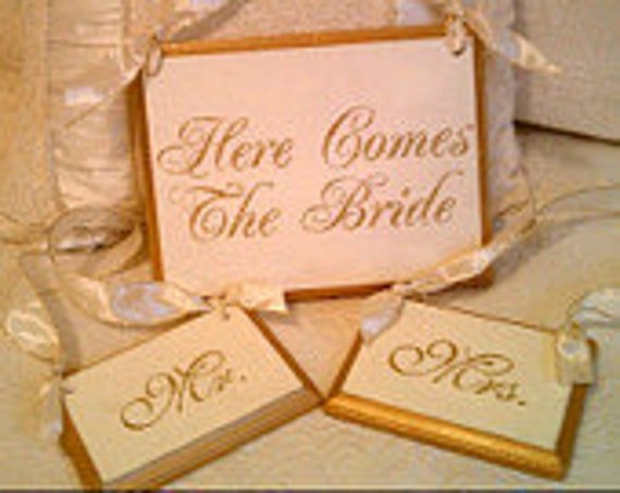 Wedding Sign GLITTERED  RESERVED for Marriame