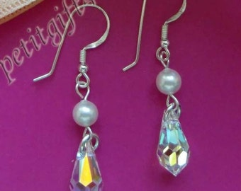 E01 Swarovski Crystal Wedding Bridal Earrings