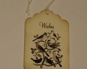 Bird Birds Wedding Wish Tree Custom Handmade Wedding Tag Favor 6 Pieces